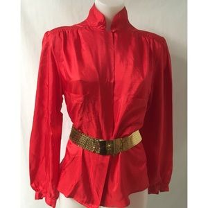 Red Vintage Top Size 10